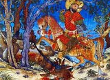 """The Shahnameh or Shah-nama (Persian: شاهنامه Šāhnāmeh, """"The Book of Kings"""") is a long epic poem written by the Persian poet Ferdowsi between c.977 and 1010 CE and is the national epic of Iran and related Perso-Iranian cultures. Consisting of some 60,000 verses, the Shahnameh tells the mythical and to some extent the historical past of Greater Iran from the creation of the world until the Islamic conquest of Persia in the 7th century.<br/><br/>  The work is of central importance in Persian culture, regarded as a literary masterpiece, and definitive of ethno-national cultural identity of Iran. It is also important to the contemporary adherents of Zoroastrianism, in that it traces the historical links between the beginnings of the religion with the death of the last Zoroastrian ruler of Persia during the Muslim conquest."""